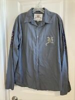 """Ed Hardy Men's Button Front """"Kiss of Death"""" Long Sleeve Shirt Size Large"""