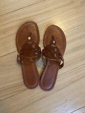 tory burch miller sandals 8 Brown
