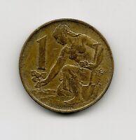 World Coins - Czechoslovakia 1 Koruna 1982 Coin KM# 50