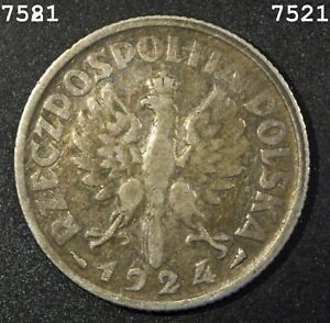 1924 *Silver* Poland One Zloty *Free S/H After 1st Item*