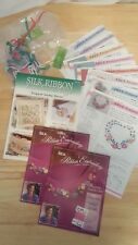 New Bucilla Silk Ribbon Embroidery Transfer Kit 33553 & Silk Ribbon Book 99106