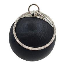 US Womens Round Shoulder Messenger Phone Bag Purse Handbag Party Evening Clutch