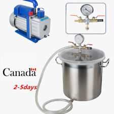 CA 5Gallon Stainless Steel Vacuum Degassing Chamber Silicone Kit w/3 CFM Pump