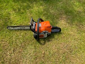 stihl petrol chainsaw MS180 and hedgetrimmer HS45