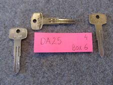 Set of 3 Key Blanks  DA25 ,X123, DA-27, DT23, DAT-12, DA22, DAT13, DA5, 321727