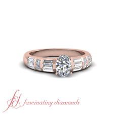 1.35 Ct Oval Shaped Diamond With Baguette And Princess Accents Engagement Ring