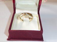 Diamante 0,05 Ct Anillo Oro Amarillo 585 14k de Compromiso 55 (17,5 Mm Ø ) 473
