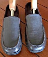 EASY SPIRIT Women's Brown Leather Loafer Slip On Mules 8.5 bx79