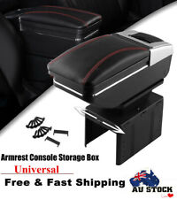 Universal Leather Car Center Console Armrest Storage Case Holder W/ 7 USB Ports