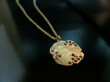 14k yellow gold necklace with pendant & rough Diamonds.UNIQUE Beautiful handmade