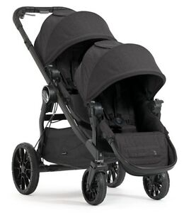 Baby Jogger City Select LUX Double Stroller in Granite Brand New Free Ship!