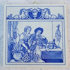 Delft Holland-The Herbalist TILE-Limited Edition BW-1139-PILL TILE