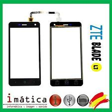 PANTALLA TACTIL PARA ZTE BLADE L3 NEGRO NEGRA TOUCH SCREEN  CRISTAL GLASS BLACK
