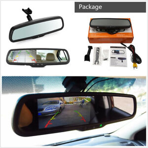 """12V 4.3"""" HD TFT LCD Display Car Windscreen Rearview Mirror Monitor With Bracket"""