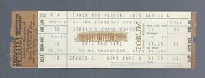VINTAGE 1973 NBA FINALS NY KNICKS @ LA LAKERS FULL BASKETBALL TICKET @ FORUM C-4