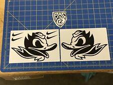 Oregon Ducks Helmet Decals (2) Carbon Fiber - FS Pro Combat Edition