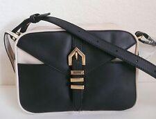Linea Pelle Hayden Crossbody Bag Purse Colorblocked Beige / Black NWT