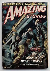 AMAZING STORIES 1952 August Vintage Pulp Sci-Fi Magazine Vol 26 # 8 RARE
