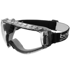 BOLLE PILOT SAFETY PROTECTIVE GOGGLES CLEAR EYEWEAR CHEMICAL DUST AUTOMOTIVE LAB