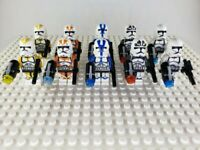 Star Wars Minifigures Mixed Color Clone Trooper Lot of 10 (Not made by Lego)