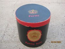 Vintage?? Used Portis Hats Black / Red  Hat Box only good for decor