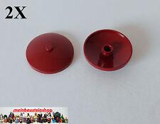 2X Lego® 3960 Runde Platte Schüssel Radar Dish 4X4 invertiert Dunkelrot Dark Red