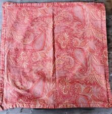 "Pair of Pottery Barn Cotton Damask Paisley Euro Shams Made in Italy - 26"" x 26"""