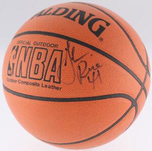 Glen Rice Signed NBA Basketball (JSA) #4 Overall Pick 1989 NBA Draft Miami Heat