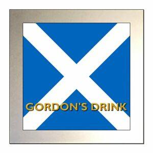 Personalised SCOTTISH FLAG / ST ANDREW'S CROSS / SALTIRE Glass Drinks Coaster