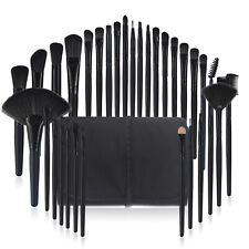 32 Pieces Pro Makeup Brush Set Powder Foundation Brushes with Free Bag Black