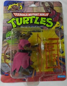 1988 Playmates Splinter Teenage Mutant Ninja Turtles TMNT 10 Back MOC Punched