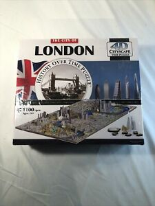 NEW 4D Cityscape Jigsaw Puzzle London City Map With Time Layer Factory Sealed!