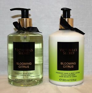 Victoria's Secret Blooming Citrus Hand & Body Lotion & Cleansing Gel Wash