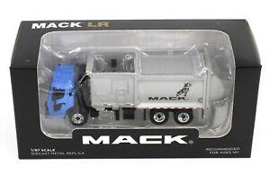 FIRST GEAR 1:87 *BLUE* MACK LR McNeilus ZR SIDE LOADER GARBAGE TRASH TRUCK