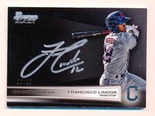 2014 Bowman Black Francisco Lindor Auto Autograph 25/25 Cleveland Indians Rare