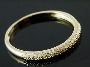 333 Gold  Ring mit Zirkonia Steinen  Größe 54  Ringbreite 2,25 mm