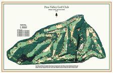 "Pine Valley   - Vintage Golf Course Maps print (30"" x 19"")"