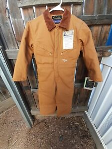 NWT! WALLS Zero Zone Coveralls Youth 8 Regular Lined Insulated Brown