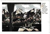 Ansichtskarte Ausblick v. Terrasse Berggasthof/Pension Hocheck zum Wilden Kaiser