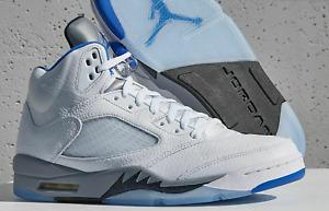 Nike Air Jordan 5 Retro White Stealth 2.0 2021 DD0587-140 (Mens 8-13)