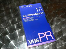 SONY VHS Broadcast E-15PR 4 Stück Professional Videotape NEU