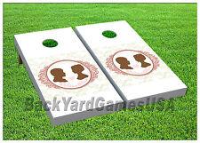 VINYL WRAPS Wedding Album Cornhole Board DECALS Bag Toss Game Stickers 545