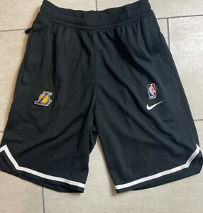 Nike Dri Fit NBA Lakers Player Issued Practice Shorts Mens Size XS Black