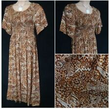 FRANKEN BROWN TAN Short Sleeve SUMMER MAXI DRESS HOLIDAY PARTY Plus SIZE 18  20