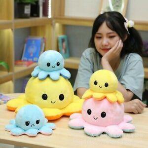 Reversible 30cm Toys 20cm Octopus 40cm Doll Flip Plush Double-Sided