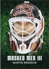 10/11 BETWEEN THE PIPES MASKED MEN III MASK #MM-32 MARTIN BRODEUR DEVILS *43798