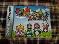 Super Mario Advance - Authentic - Nintendo Game Boy Advance - GBA - Manual Only!