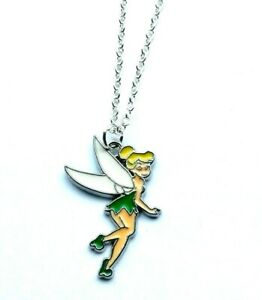 TINKERBELL FAIRY CHARM PENDANT NECKLACE GIRLS JEWELLERY IN GIFT BAG