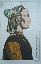 COSTUME PORTRAIT ILLUSTRATION COULEUR DUCHESSE D URBIN 1470 FLORENCE JACQUEMIN