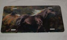Chrome METAL License Plate Frame I HEART MY QUARTER HORSE Auto Accessory 537